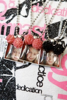 handmade photo necklaces of kids