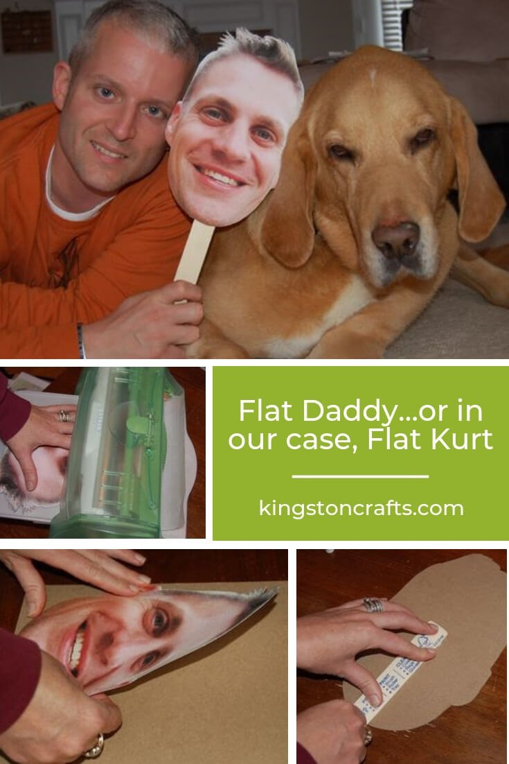 Flat Daddy…or in our case, Flat Kurt - The Kingston Home: Flat Daddy refers to a cardboard cut out of someone who is absent from home due to being in the military. The purpose of creating a Flat Daddy or Flat Mommy, is to keep family members connected during times of deployment. via @craftykingstons