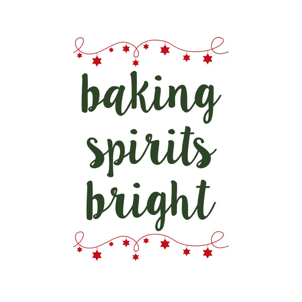 baking spirits bright svg file for Christmas