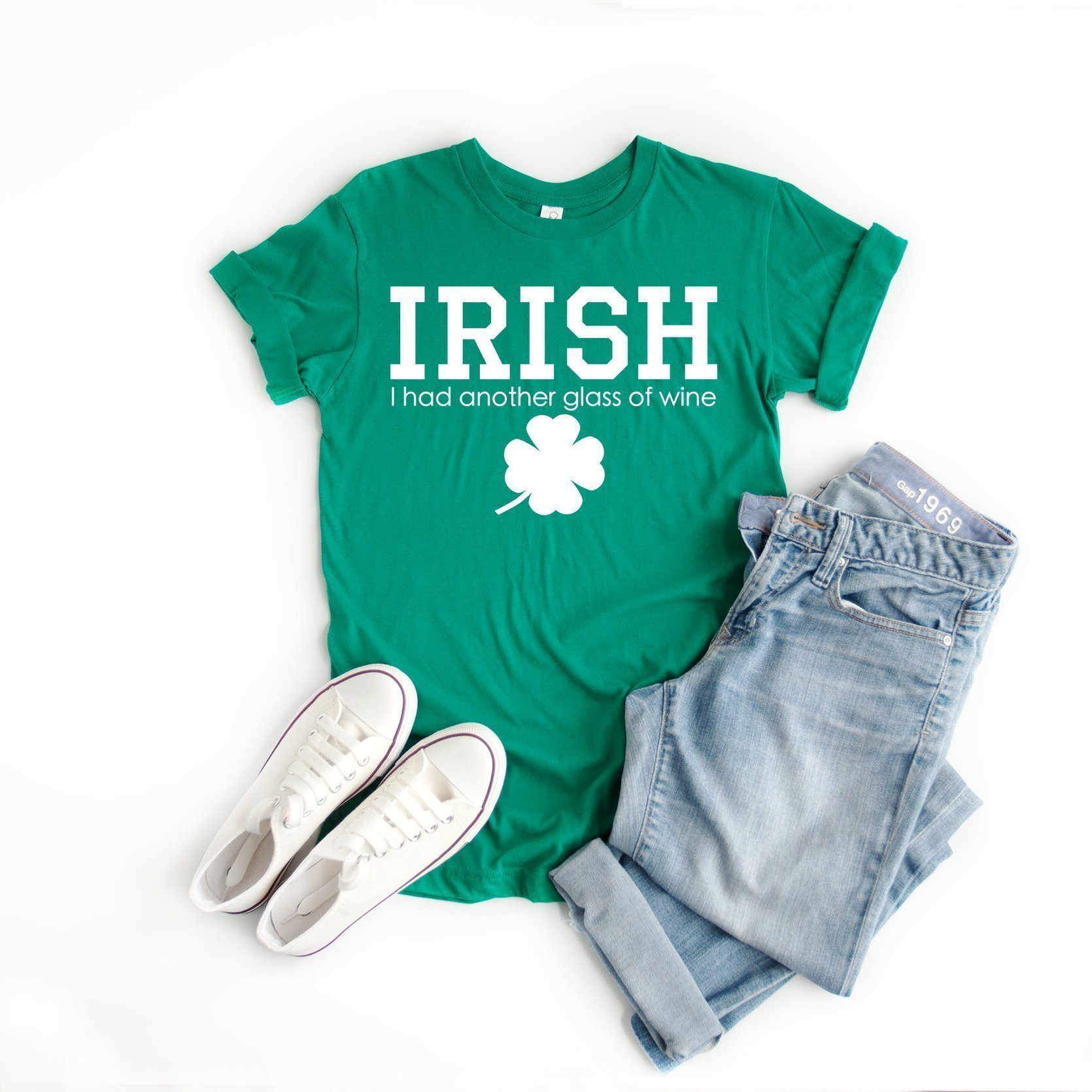 Irish I had another glass of wine t-shirt