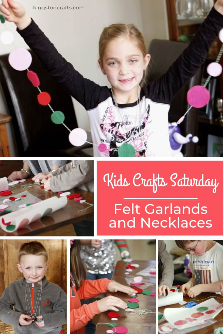 Kids Crafts Saturday – Felt Garlands and Necklaces - Kingston Crafts