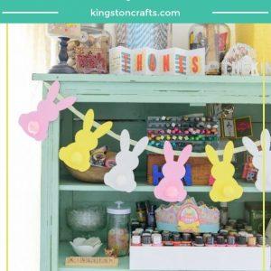 Michaels Bunny Banner Tutorial - Kingston Crafts