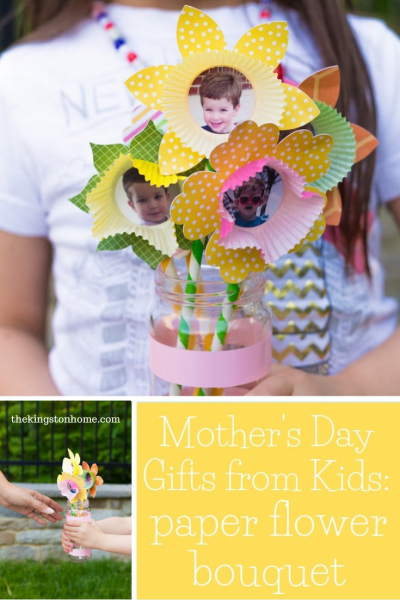 Mother's Day Gifts From Kids Paper Flower Bouquet - The Kingston Home