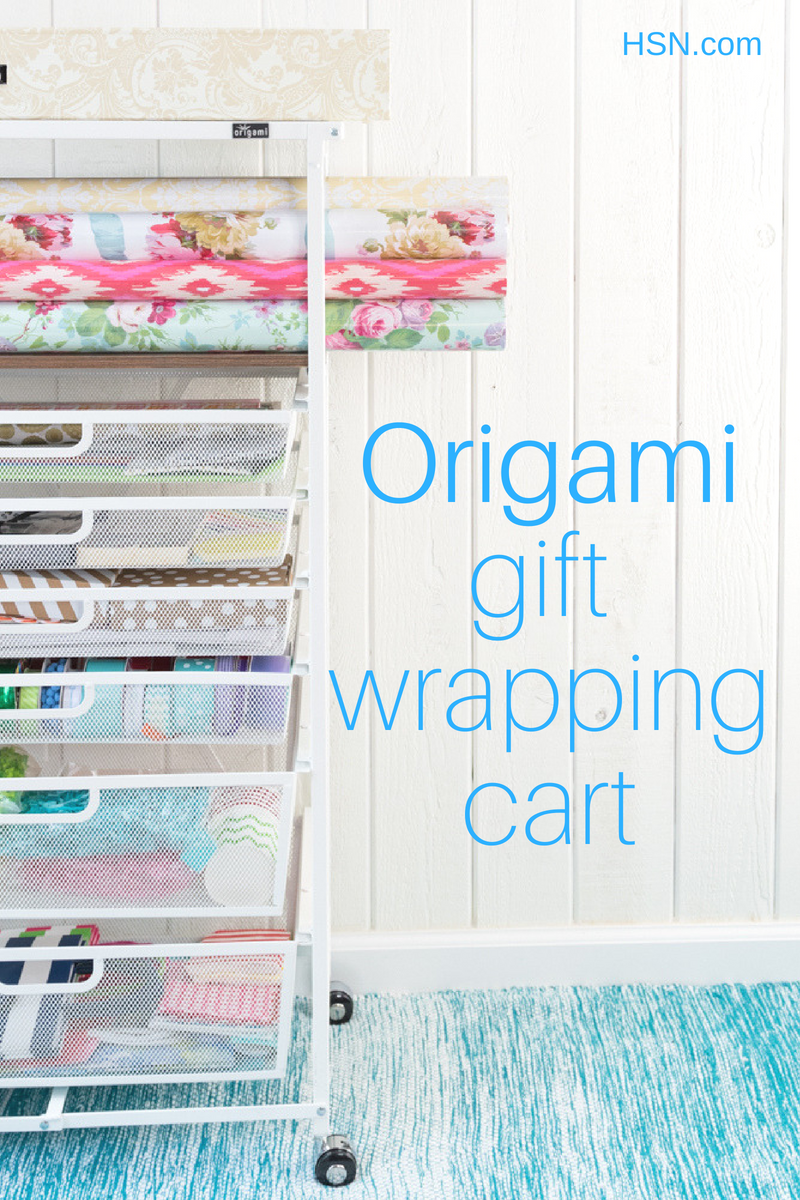 origami gift wrapping cart from The Kingson Home