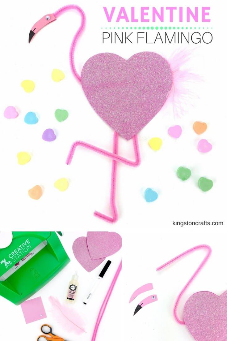 PINK FLAMINGO VALENTINE – EASY KIDS CRAFT PROJECT! - Kingston Crafts