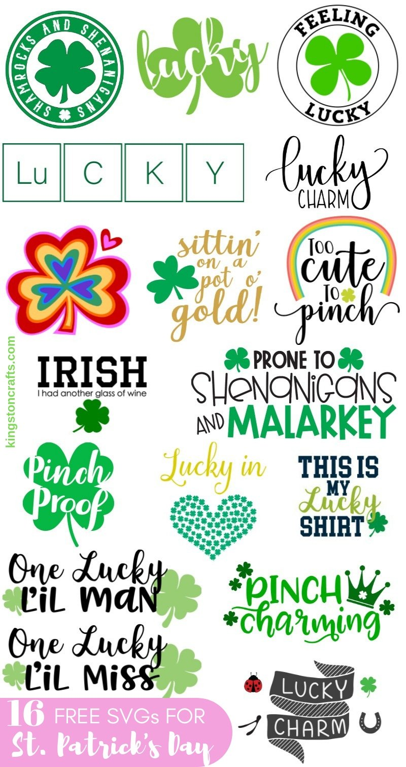 free st. patricks day svg cut files