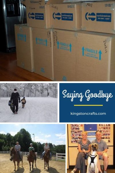 Saying Goodbye - Kingston Crafts