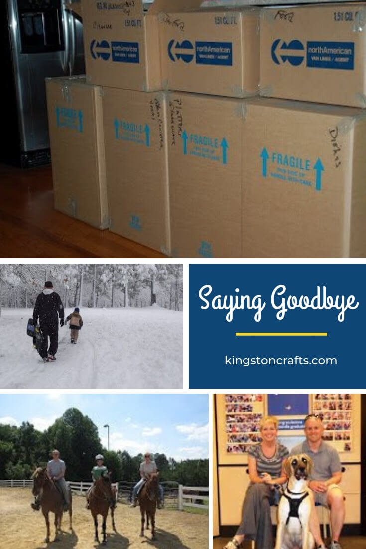 Saying Goodbye - The Kingston Home: Saying Goodbye, and the movers are here. via @craftykingstons