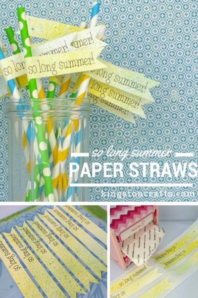 So Long Summer Paper Straws - Kingston Crafts