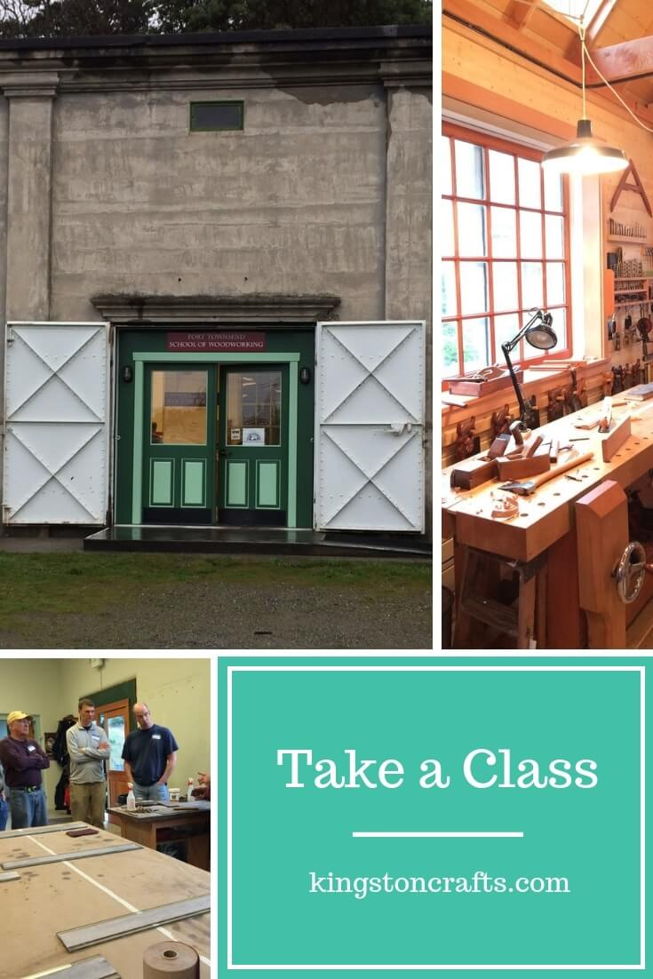 Take a Class - The Kingston Home: Want to improve your skills? Conquer a technique that has been giving you fits or you can't understand from YouTube? Overcome a creative block? Find some inspiration and motivation for your woodworking or other craft? Then take a class. via @craftykingstons