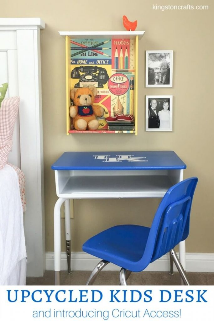 Upcycled Kids Desk…and introducing Cricut Access! - Kingston Crafts