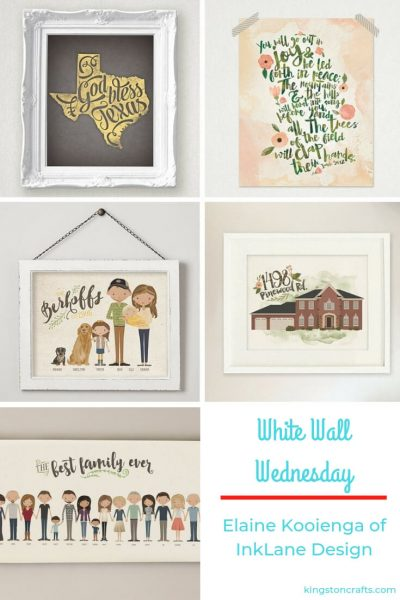 White Walls Wednesday – Elaine Kooienga of InkLane Design - Kingston Crafts