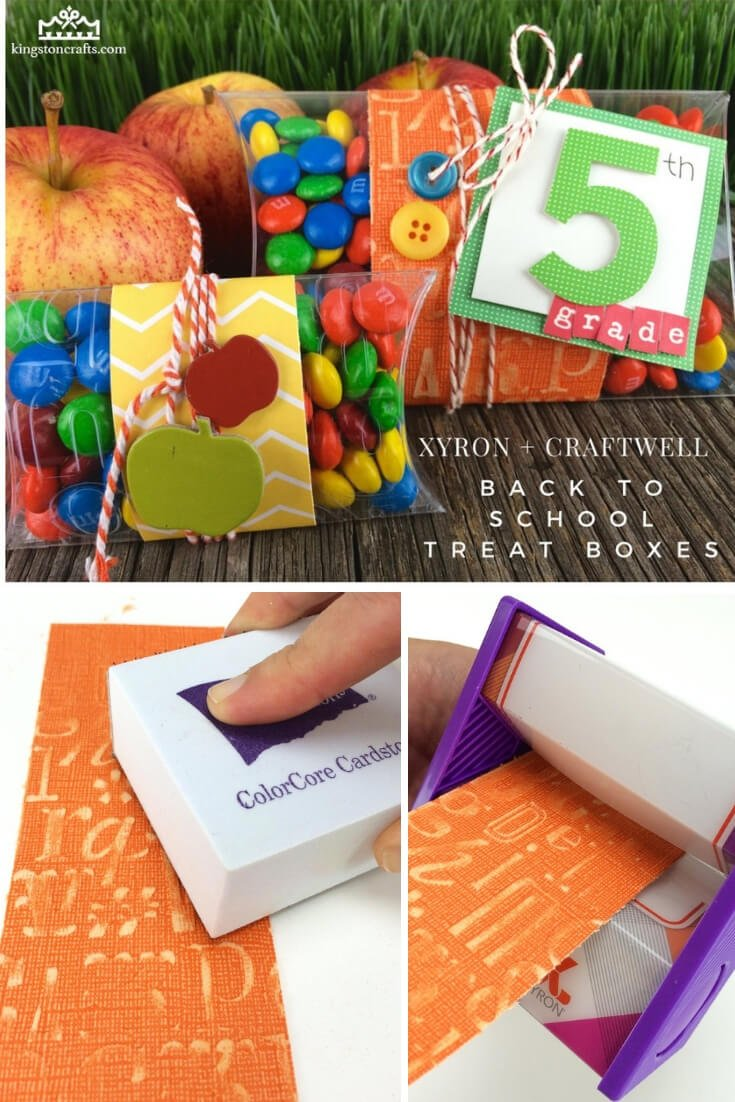 Xyron + Craftwell = Back to School Treat Boxes! - Kingston Crafts
