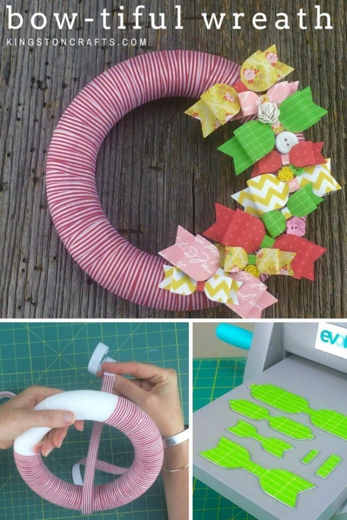 Xyron + My Favorite Things = A Bow-tiful Wreath! - Kingston Crafts