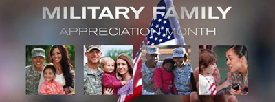 military family appreciation month banner
