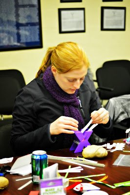 woman using Xyron machine