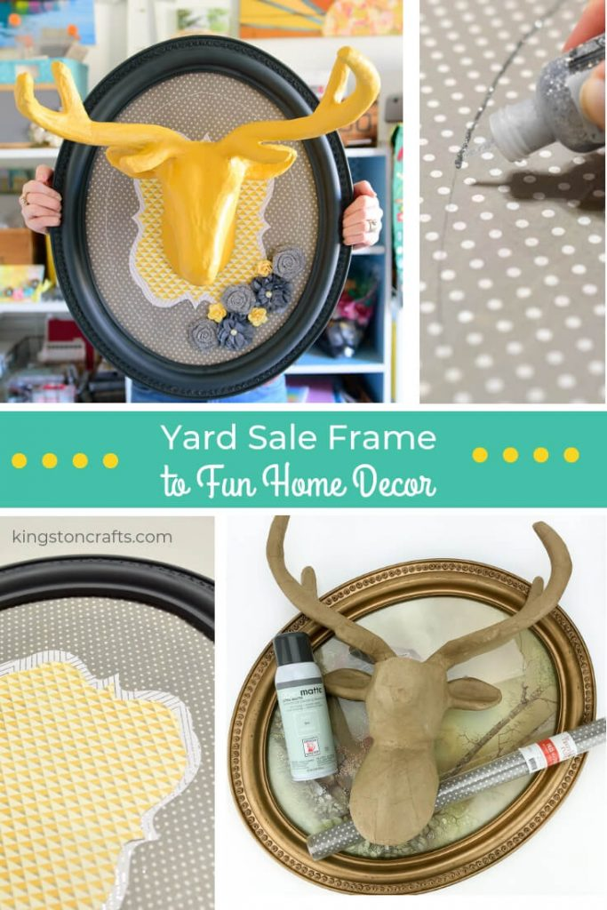Yard Sale Frame to Fun Home Decor – Tale of the Left Out Wall Hanging - Kingston Crafts