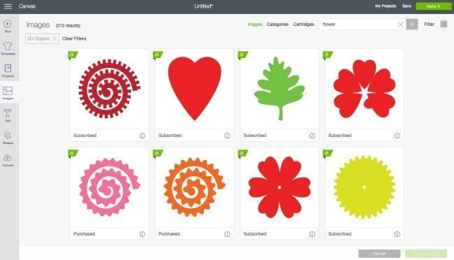 3d cut flower designs in Cricut Design Space