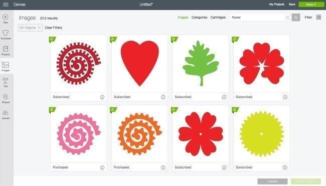 3d cut flower designs in Cricut Design Space