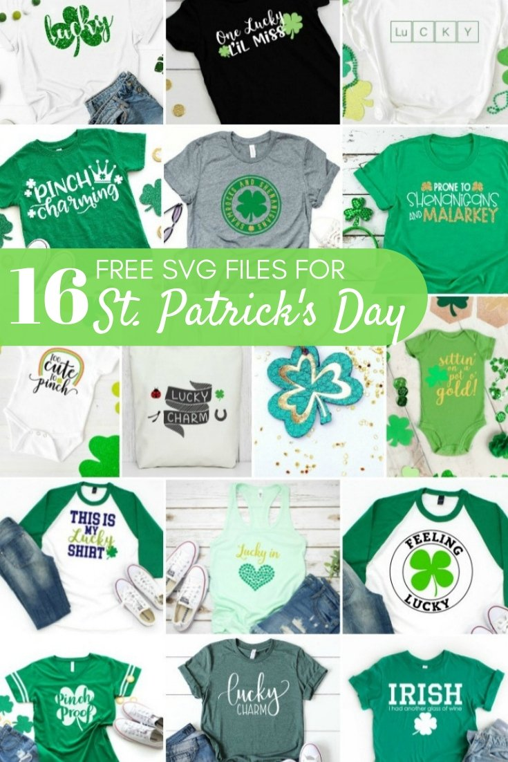 Free SVG Files for St. Patrick's Day - The Kingston Home: Get ready for St. Patrick's Day with sixteen free SVG files that will make you the hit of any party! via @craftykingstons