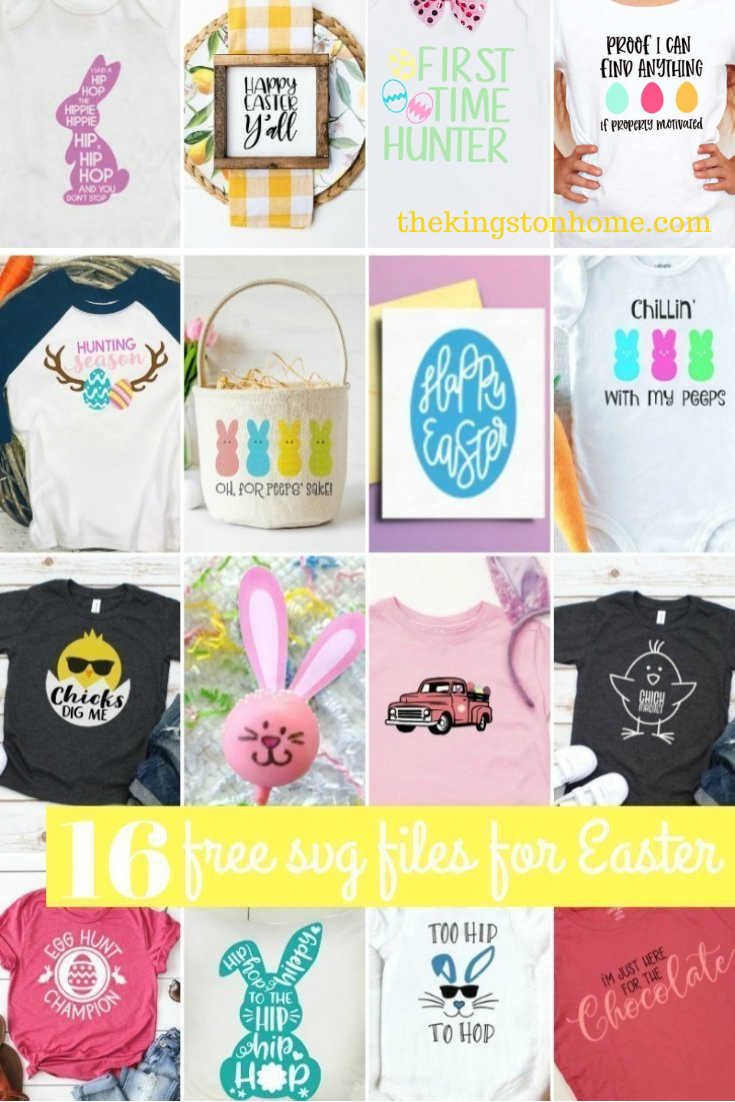 16 Free SVG Files For Easter - The Kingston Home: Spring has sprung - and we're getting ready with sixteen FREE svg files for Easter! via @craftykingstons