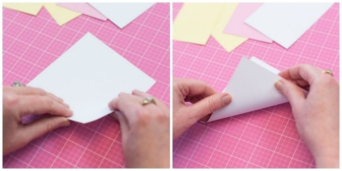 cut piece of white cardstock into a square