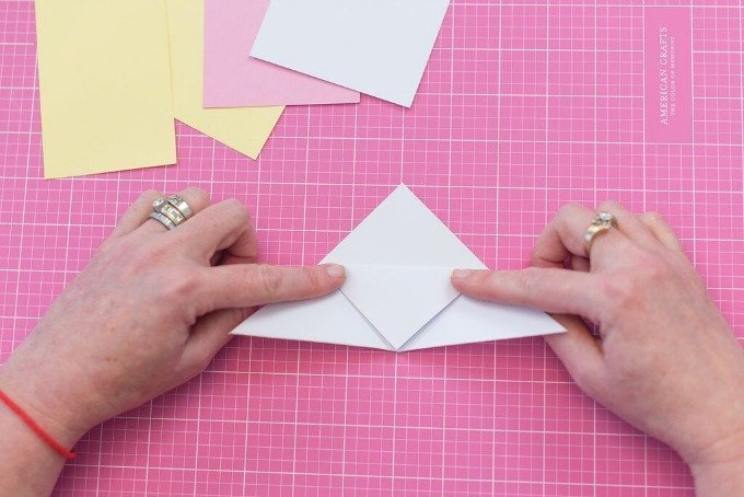 unfold white cardstock sheet of paper