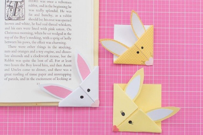 bunny bookmarks on books