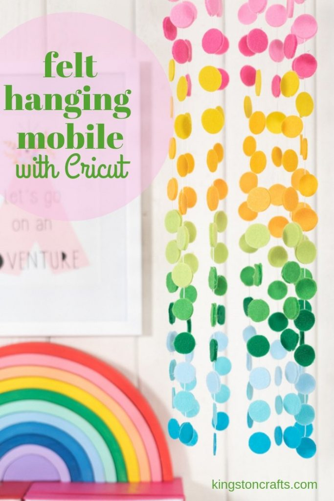 felt hanging mobile with cricut maker