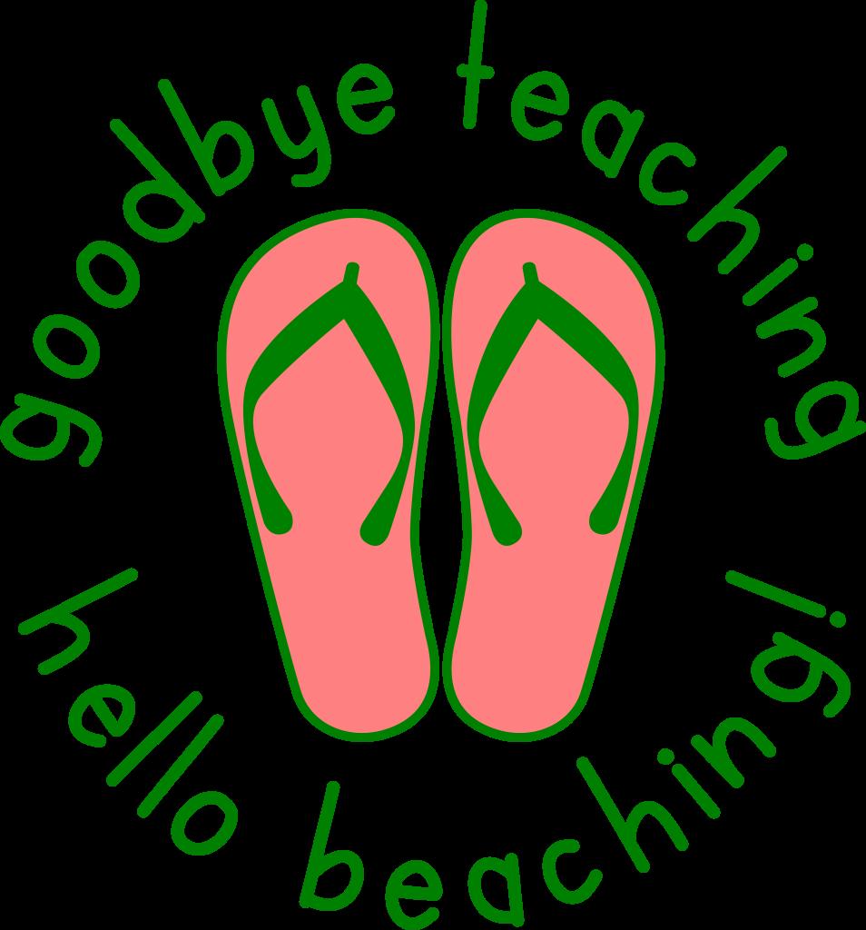 goodbye teaching hello beaching svg cut file