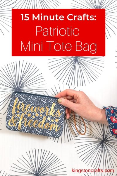 Patriotic Mini Tote Bag - Kingston Crafts