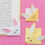 kids craft paper bunny bookmarks for Easter