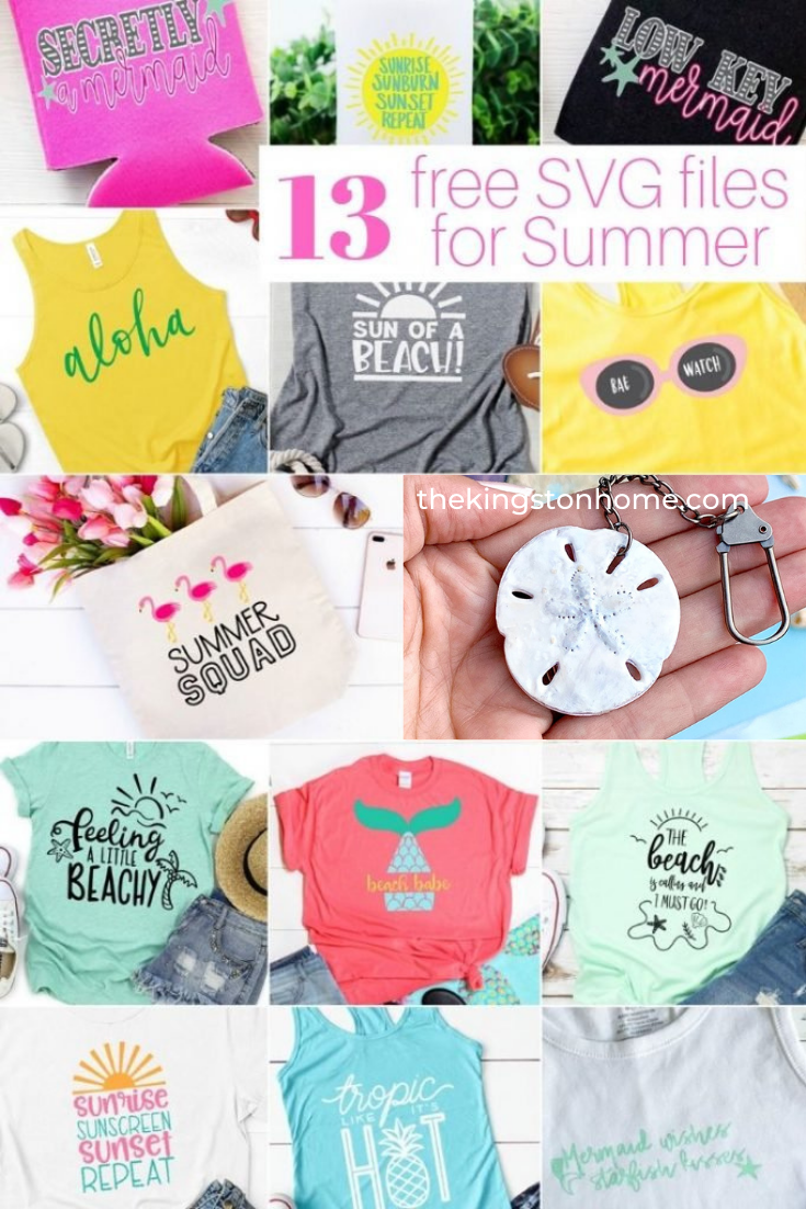 13 Free SVG Files for Summer - The Kingston Home: Summer's here and the time is right...for making t-shirts and other fun stuff with some FREE svg files!!!!! Or...dancing in the streets. Either one! via @craftykingstons