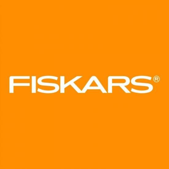Orange square with Fiskars logo