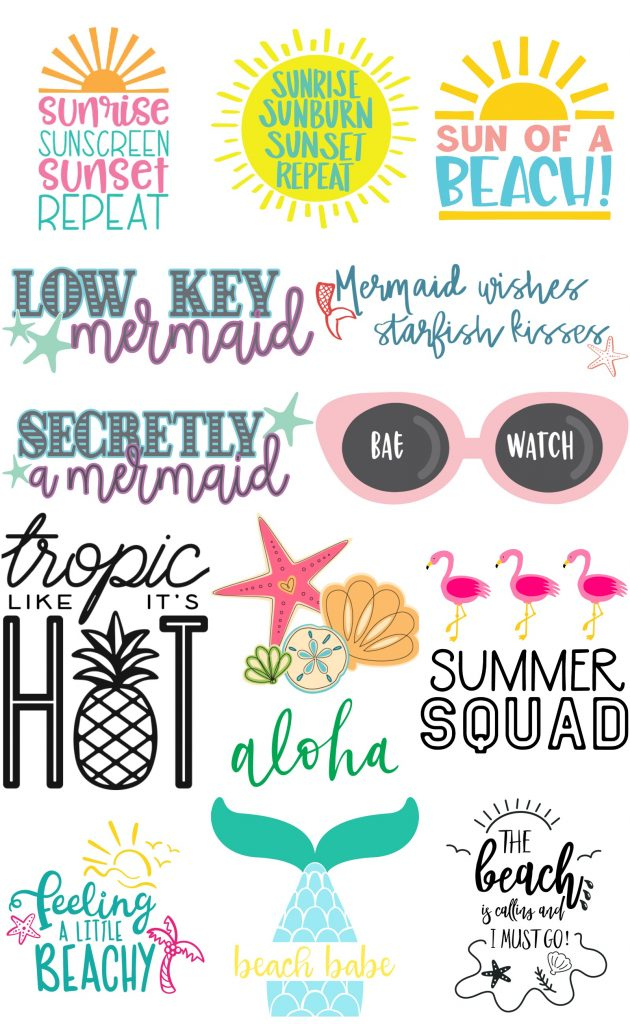 13 free SVG cutting files for Summer Projects - Kingston Crafts