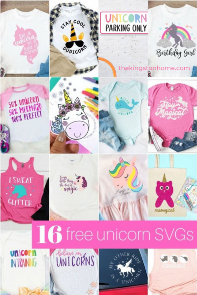 16 Free Unicorn SVG Files - The Kingston Home