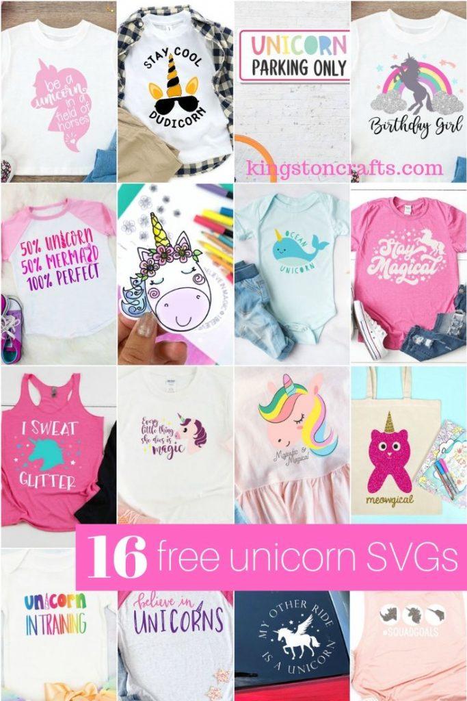 16 Free Unicorn SVG Files