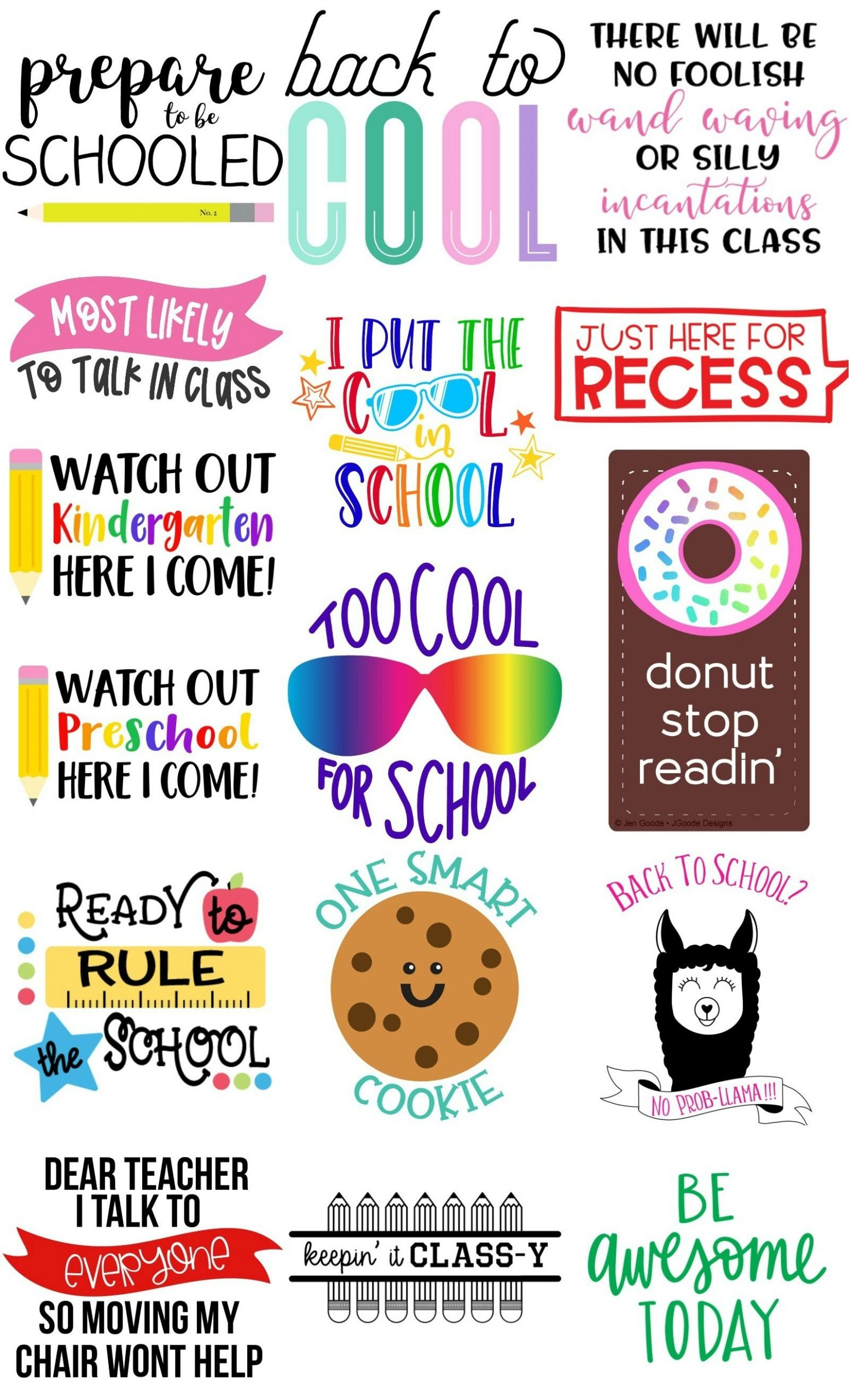 Back to School SVG Cut Files