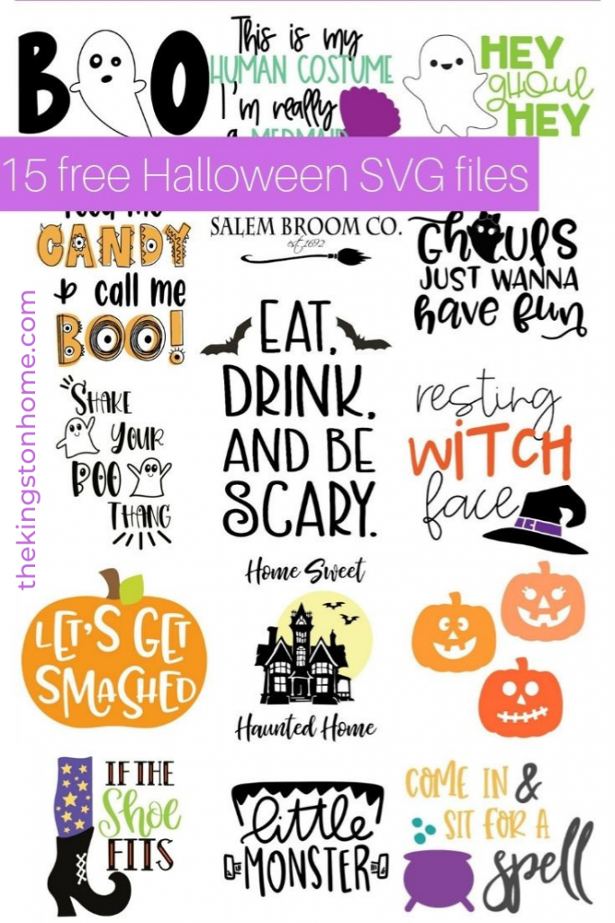 15 Free Halloween SVG Files - The Kingston Home