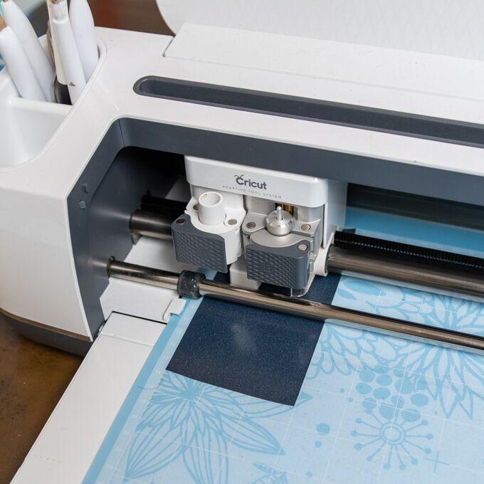 cricut machine cutting spider image
