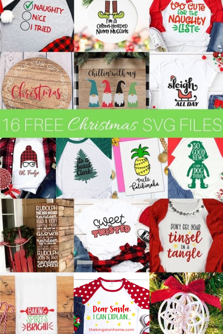 16 Free Christmas SVG Files - The Kingston Home: The Christmas season is here and we're making it a little more merry with 16 FREE SVG files! I know I'm not alone in saying this is my favorite time of year - but I also get overwhelmed with ALL of the projects I want to make. We're making it easier than ever to create this season with free SVG files for all of your holiday celebrations. via @craftykingstons
