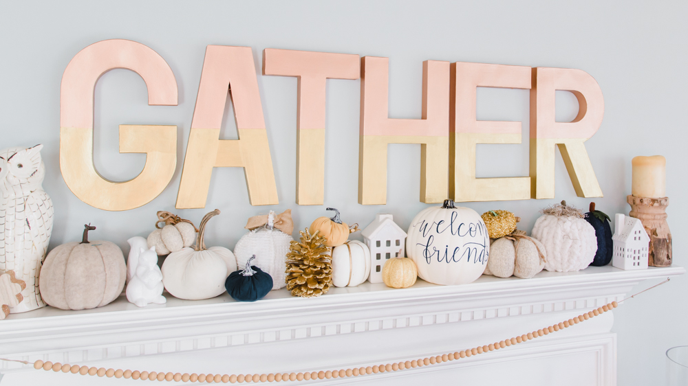 Large Gather Hearth Sign
