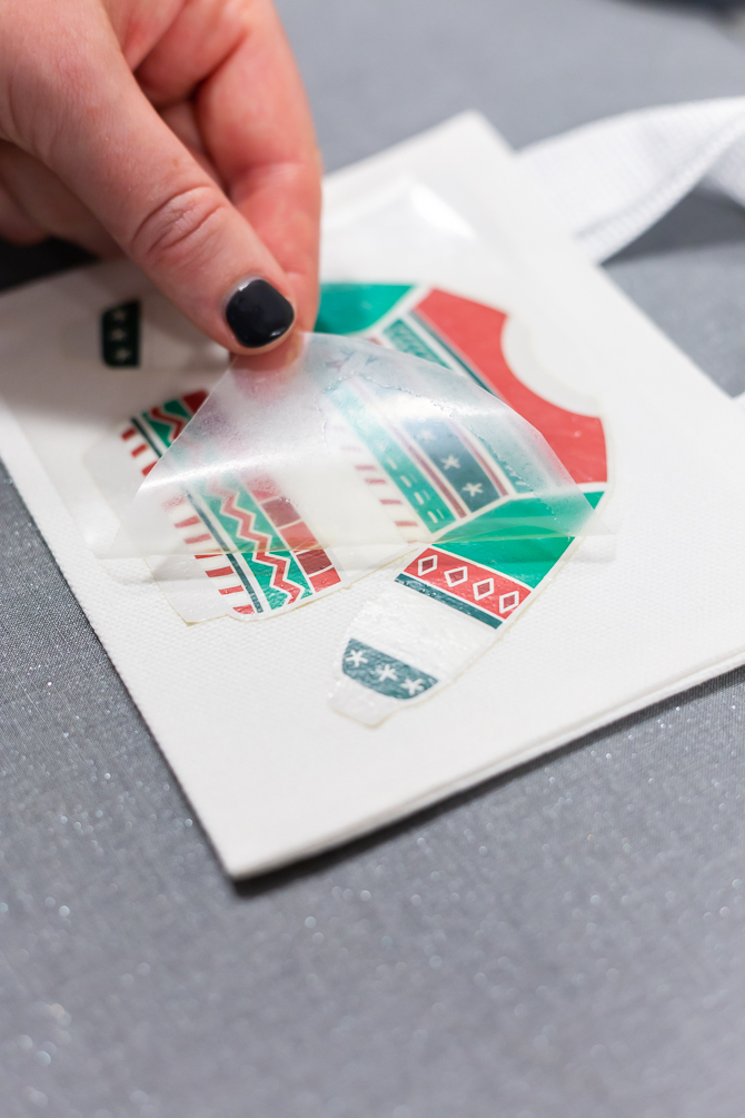 remove the plastic transfer sheet