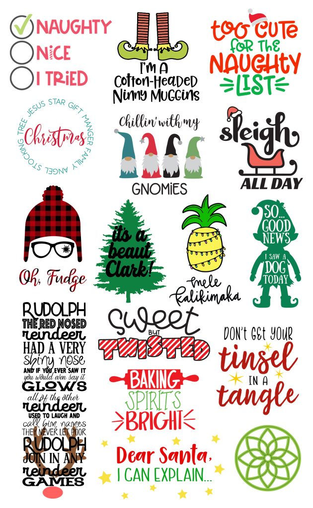 free Christmas SVG cut files for Cricut craft projects