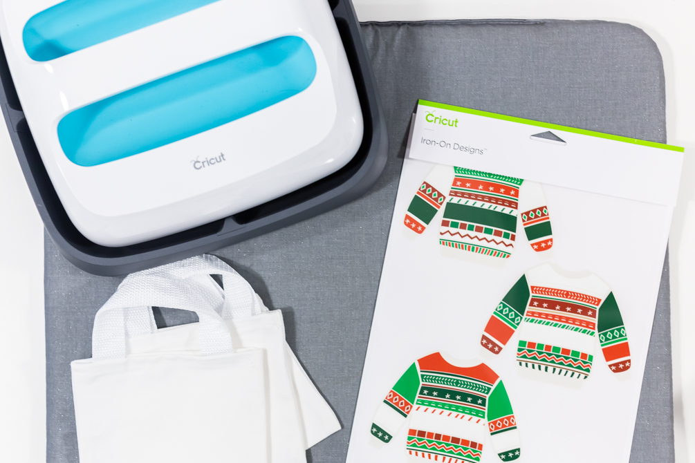 holiday sweater party supplies with cricut easypress
