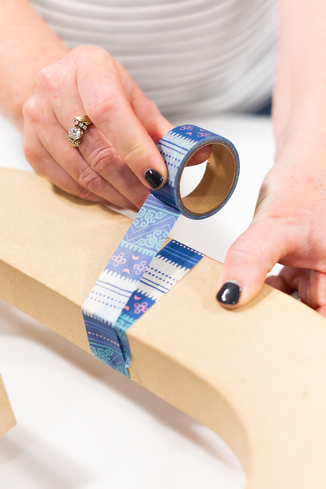 wrap washi tape around each letter