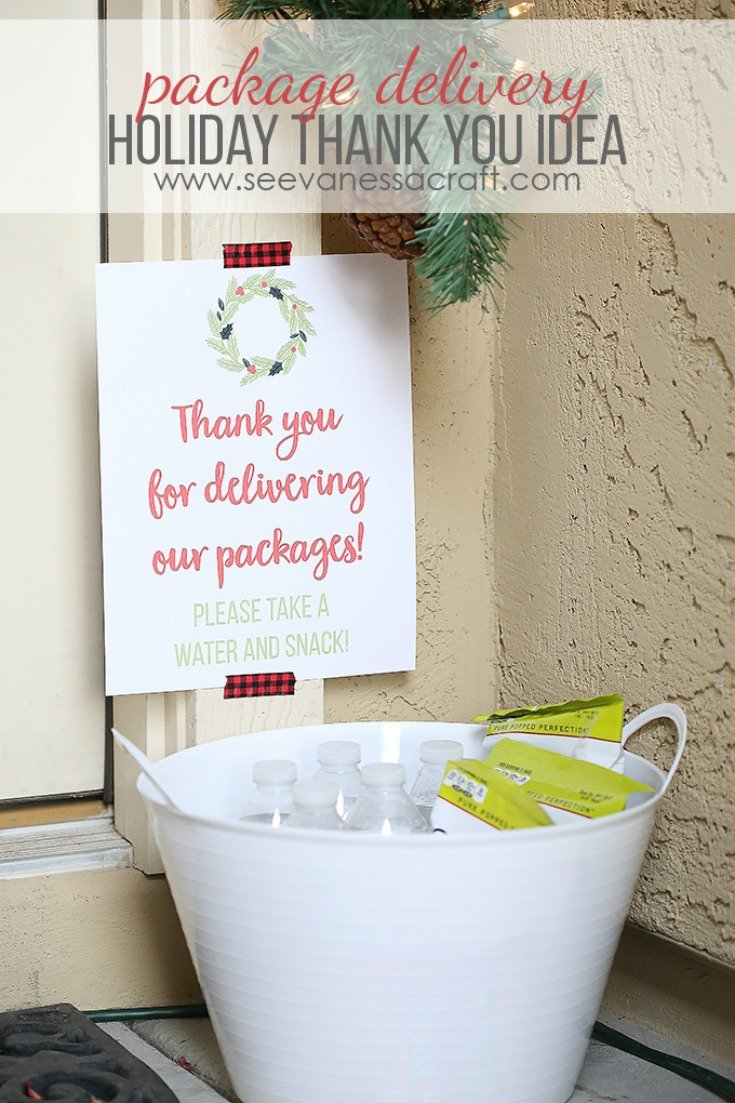 Christmas: Thank You Idea for Package Delivery by See Vanessa Craft