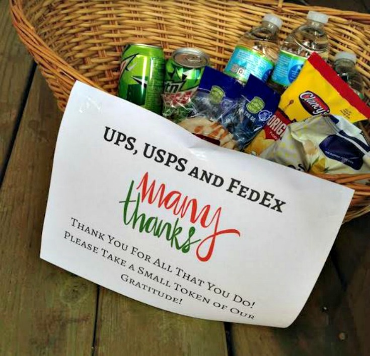 "Say ""Thank You"" to your Mail Carrier & UPS Driver by Saving Toward a Better Life"