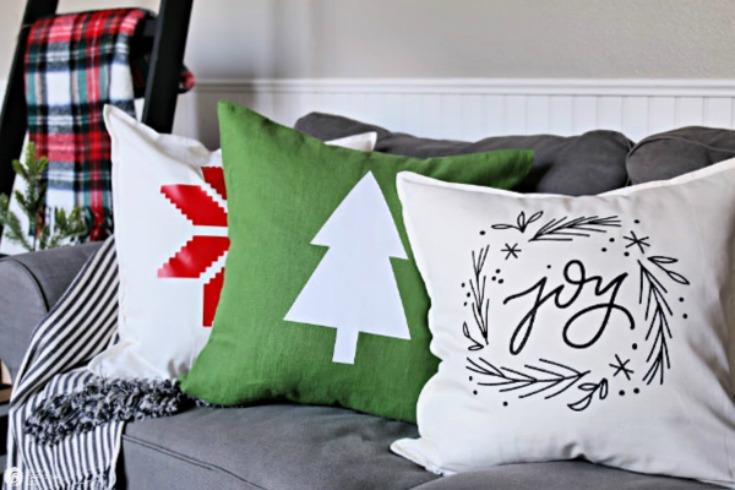DIY Holiday Pillows With Cricut