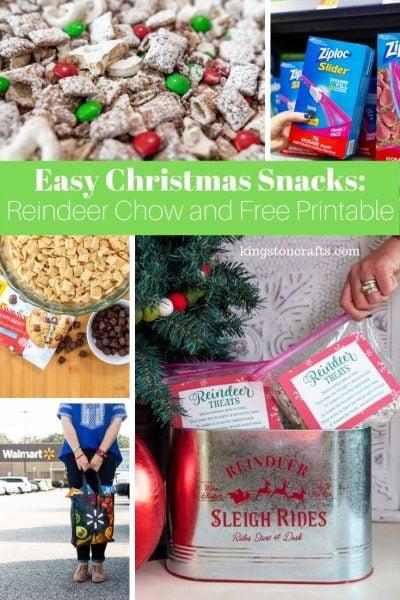 Easy Christmas Snacks: Reindeer Chow and Free Printable